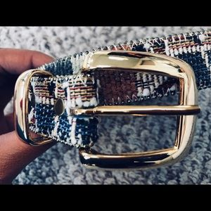 Accessories - Vintage Multi-colored stitch with leather belt